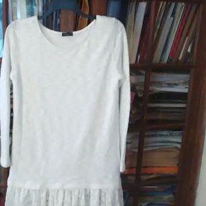 White with sparkle thread